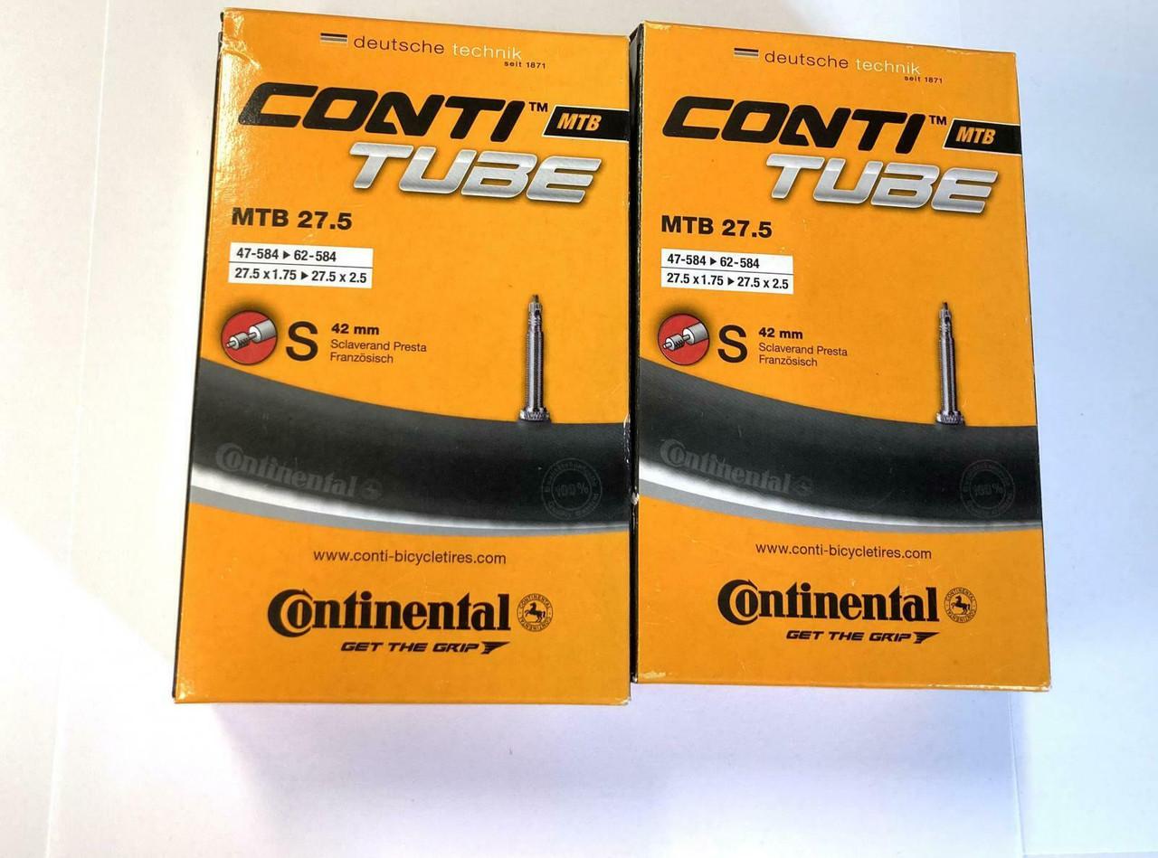 2x Continental MTB 27.5 x 1.75-2.5 With 42mm Presta Valve