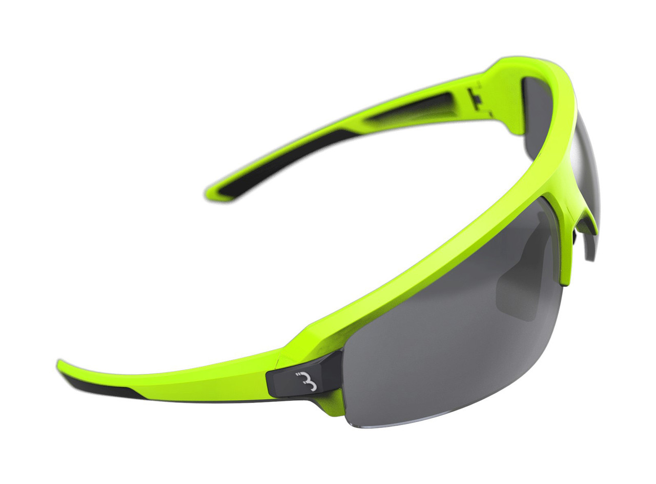 BBB Impulse Sport BSG-62 Sunglasses Neon Yellow / Smoke Lens