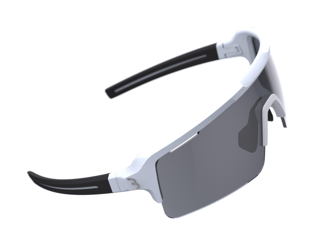 BBB Fuse Sport BSG-65 Sunglasses Matte White / Smoke Lens RRP £64.99
