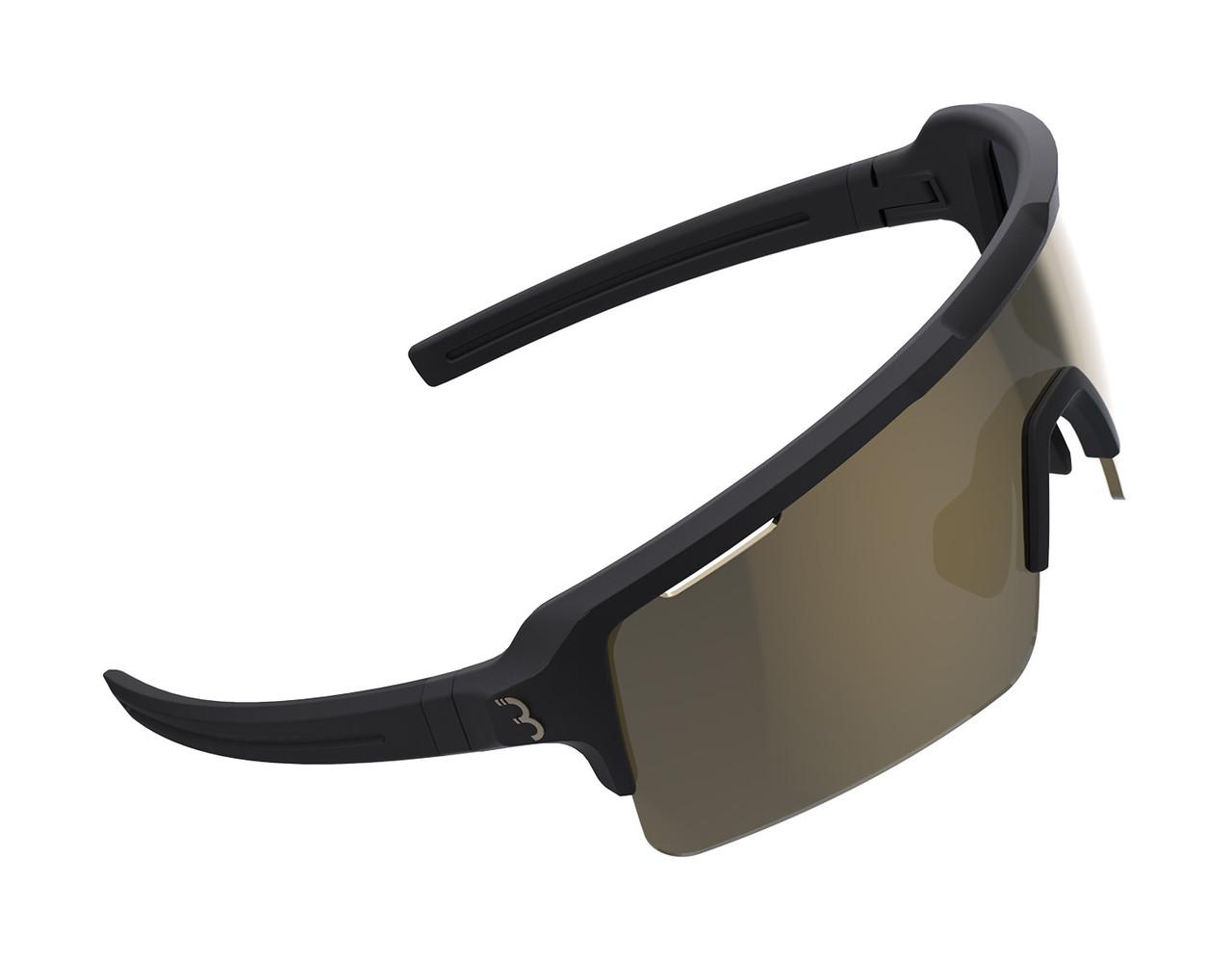 BBB Fuse Sport BSG-65 Sunglasses Matte Black / MLC Gold Lens RRP £72.99