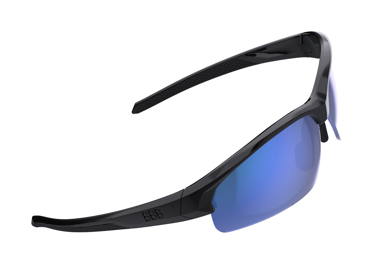 BBB Impress Small Sport BSG-68 Sunglasses Black/ Blue MLC Lens