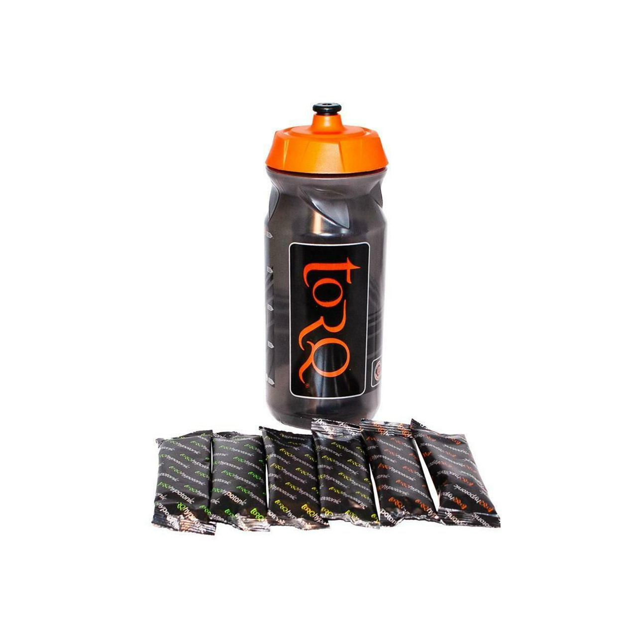 TORQ Hydration Bottle Pack - 500ml Bottle With 6x Single Serve Sachets
