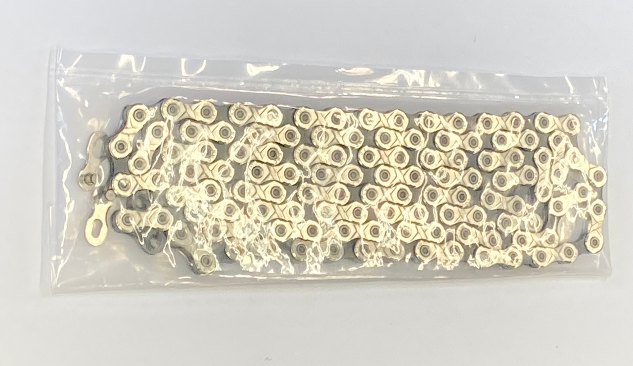 KMC X10 10Speed Workshop Chain In Silver/Black 120L With Missing Link Unboxed