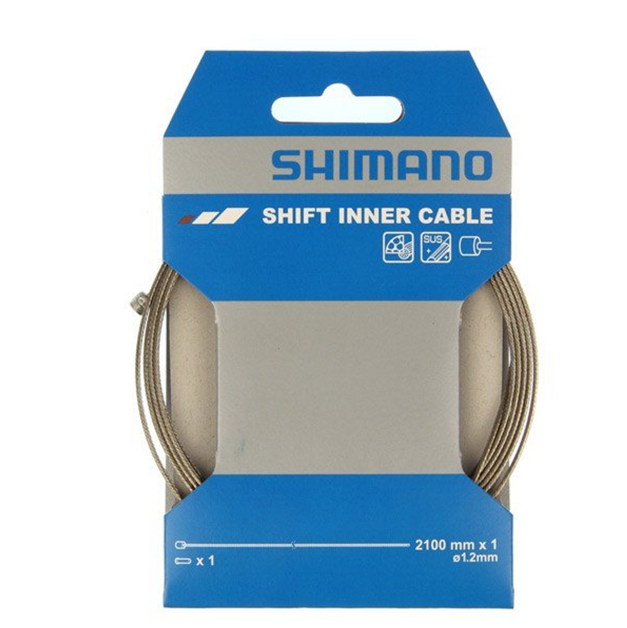 Shimano Road / MTB Stainless Steel Gear Inner Wire 1.2 x 2100mm
