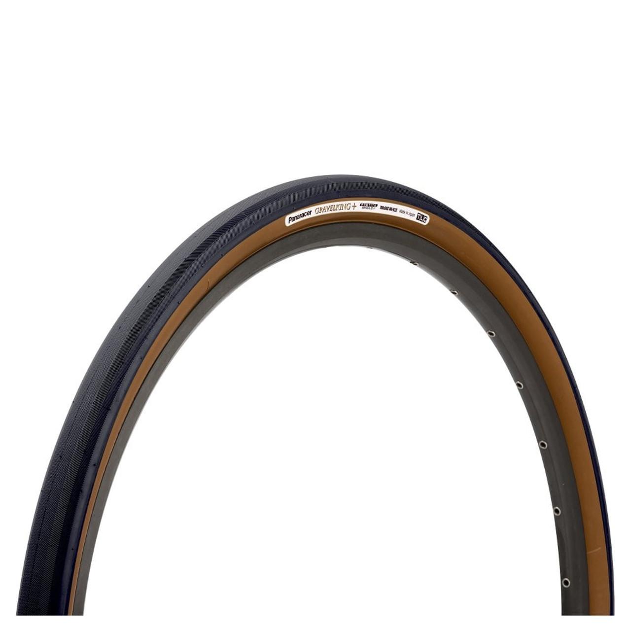 Panaracer GravelKing Slick+ Folding Tyre In Black/Brown All Sizes