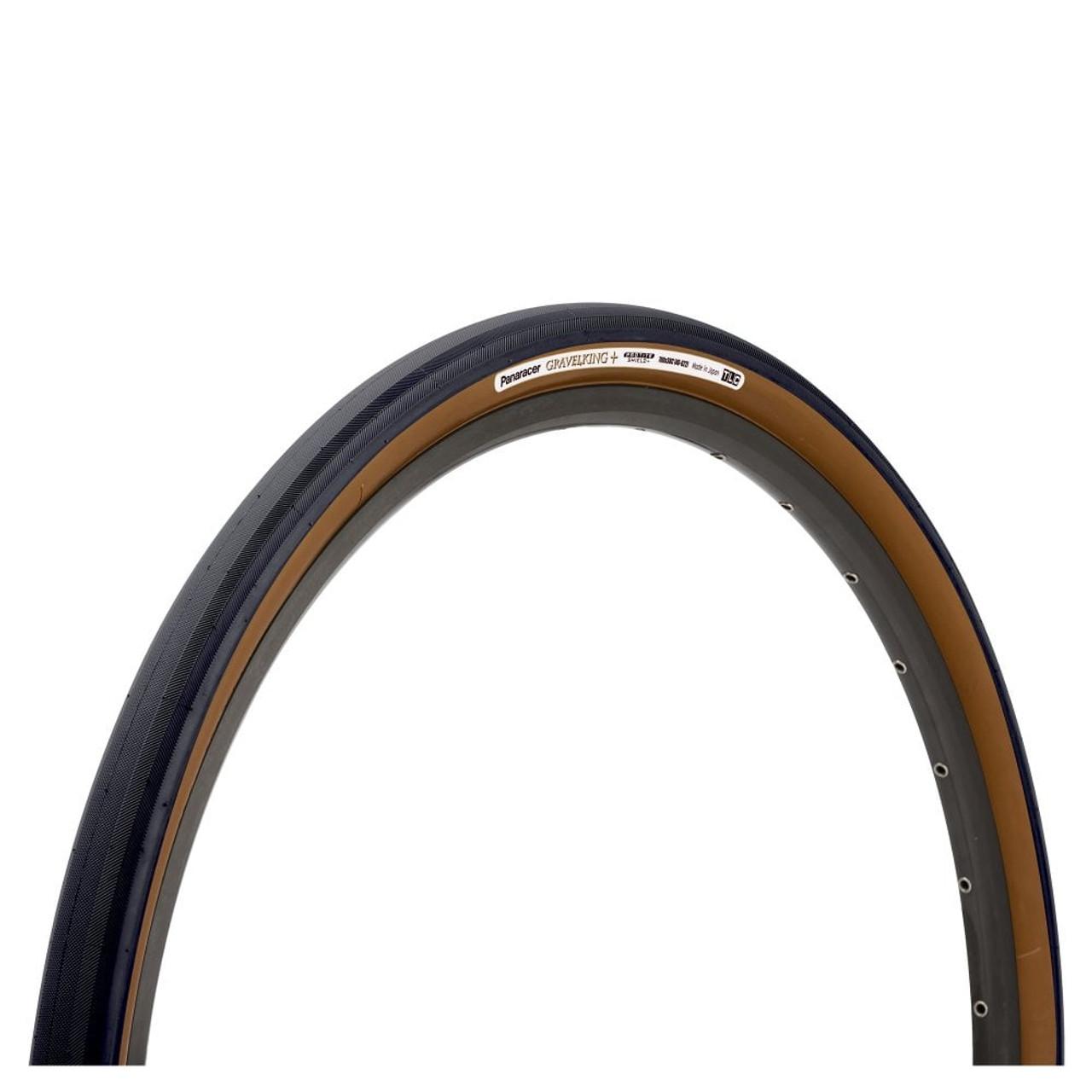 Panaracer Gravelking Slick Tubeless Folding Tyre In Black/Brown All Sizes