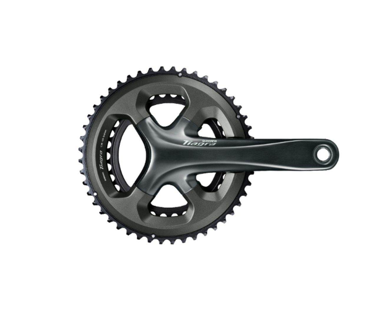 Shimano Tiagra 4700 10 Speed Double Chainset In Grey All Sizes