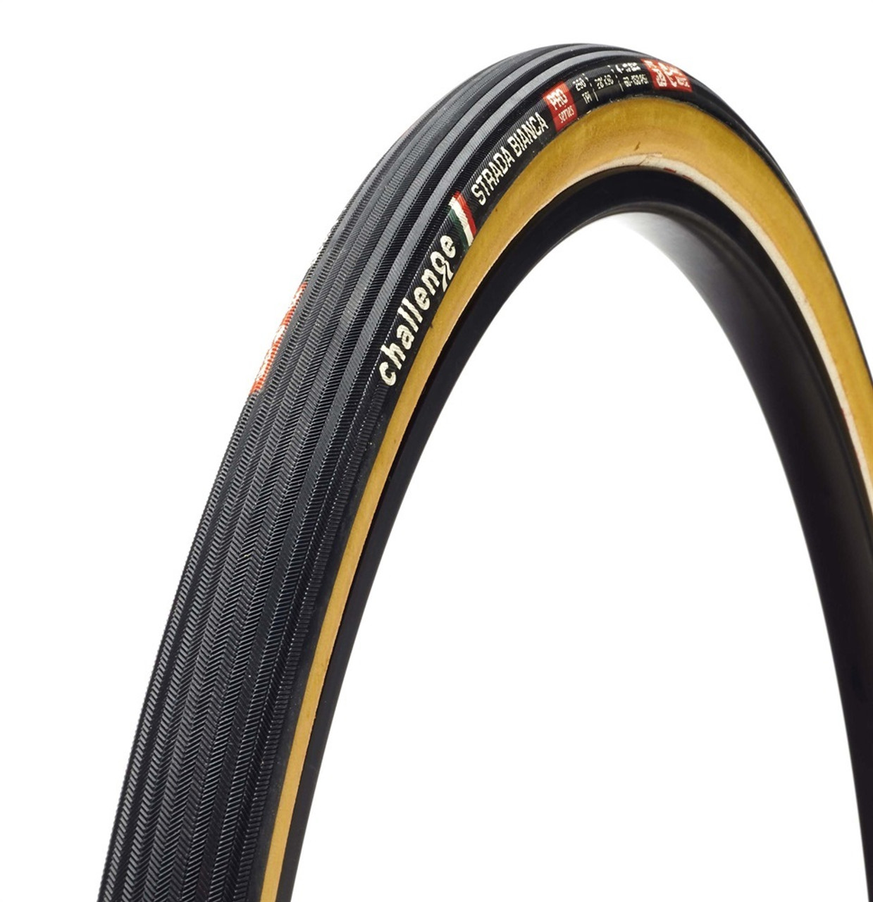Challenge Strada Bianca Pro Cyclocross/Gravel Clincher Tyre In Tan 700 x 30