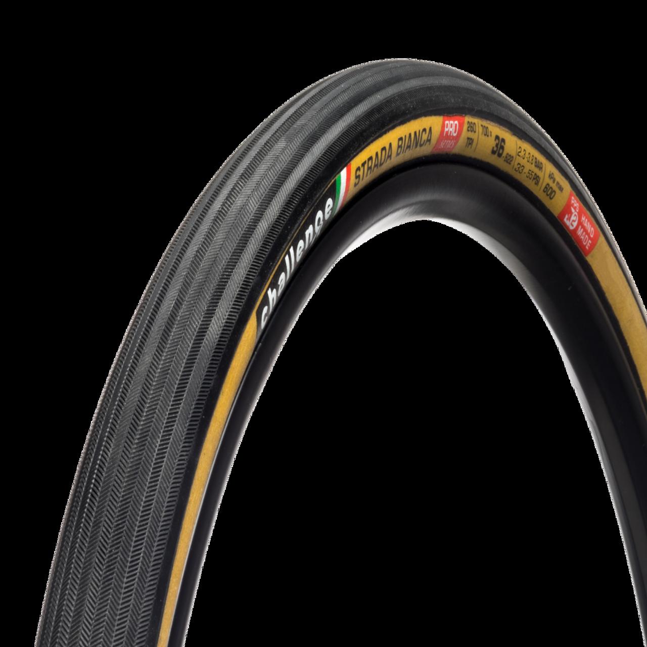 Challenge Strada Bianca Pro Cyclocross/Gravel Clincher Tyre In Tan 700 x 36