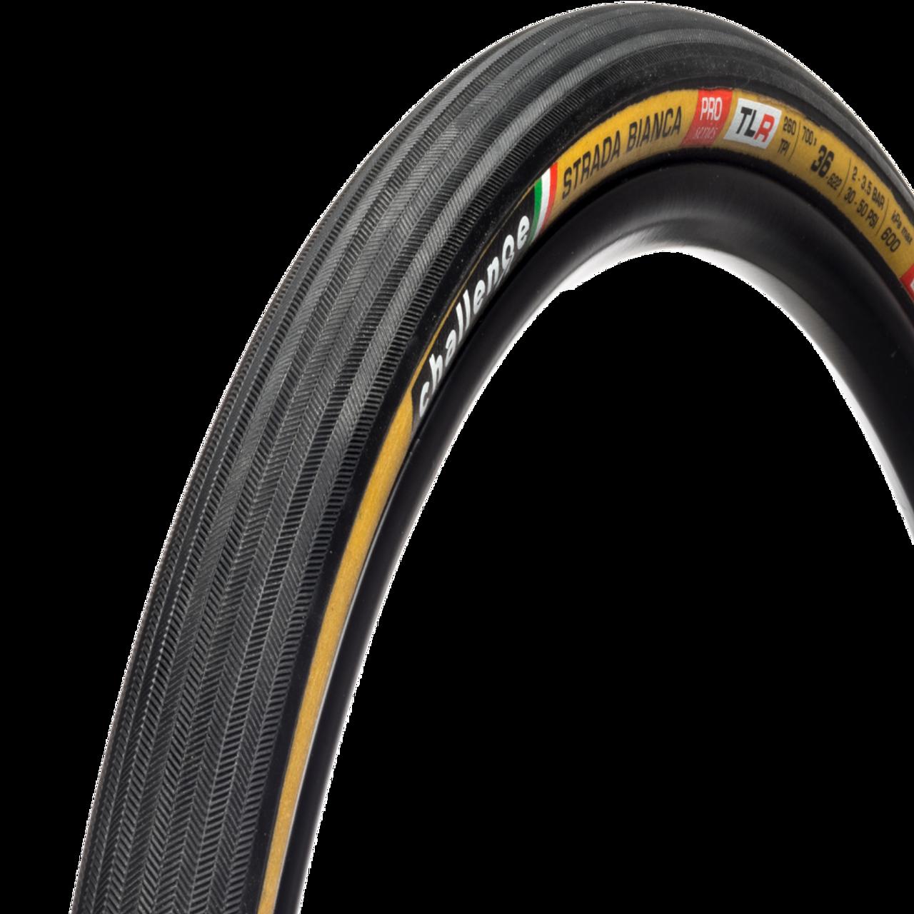 Challenge Strada Bianca Pro Tubeless Ready Cyclocross/Gravel Tyre- Tan 700 x 36