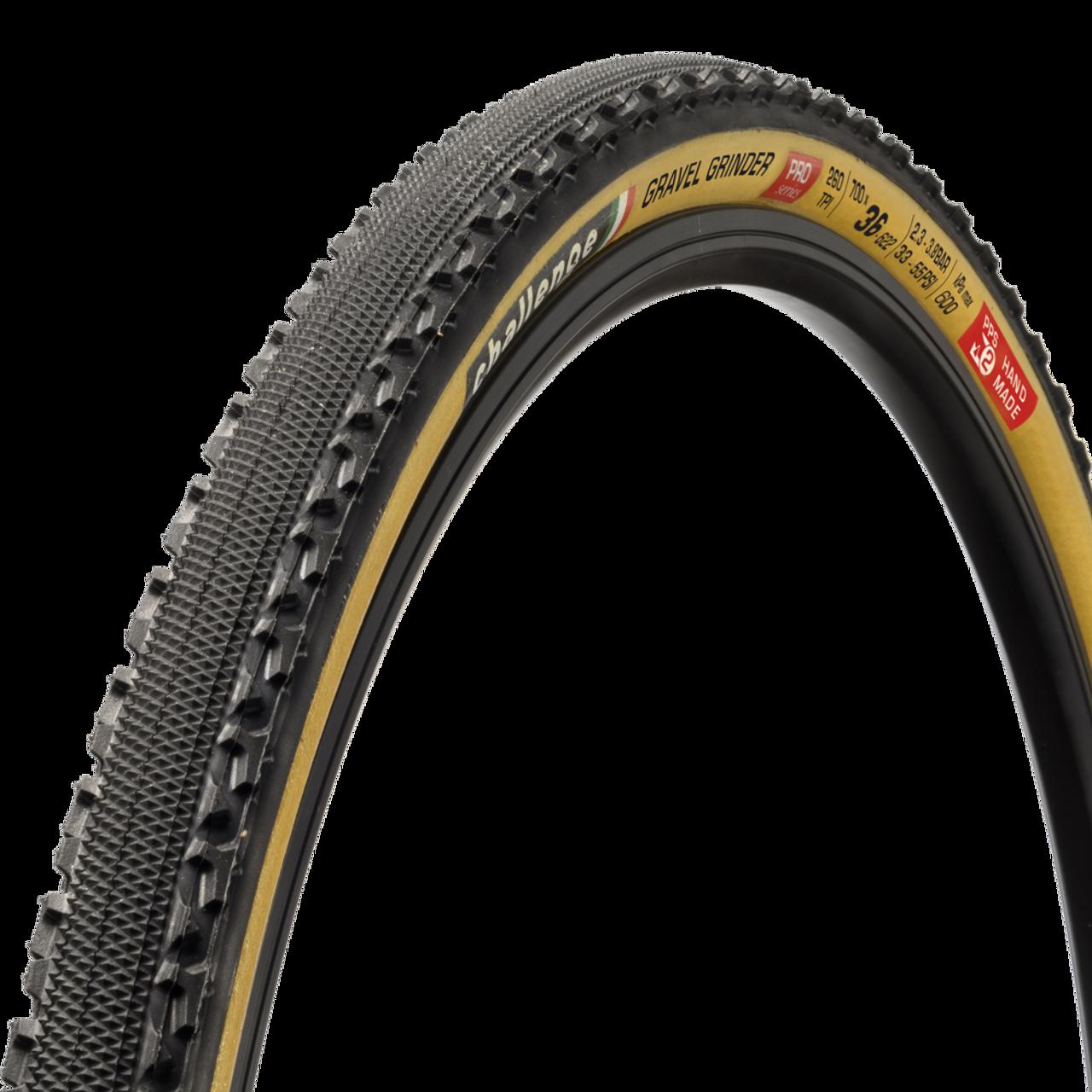 Challenge Gravel Grinder Race Handmade Clincher Cyclocross Tyre -Tan 700 x 36