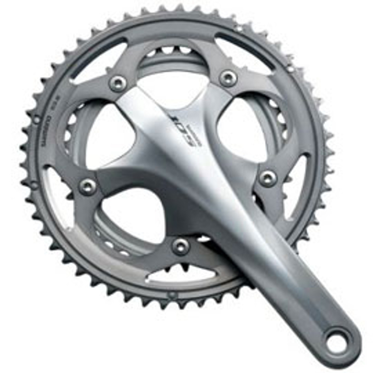 Shimano 105 5700 10 Speed Double Chainset Silver 172.5mm 39/53