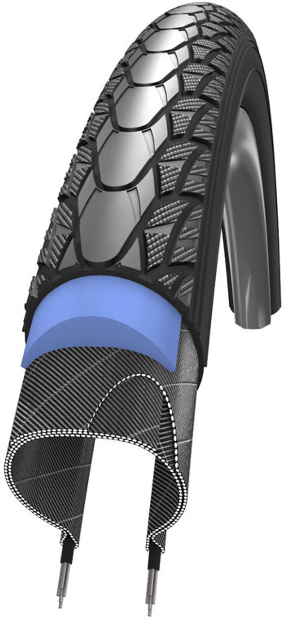 Schwalbe Marathon Plus Evo SmartGuard Black'n Roll Rigid Wheelchair Tyre 24 x 1 3/8 Grey
