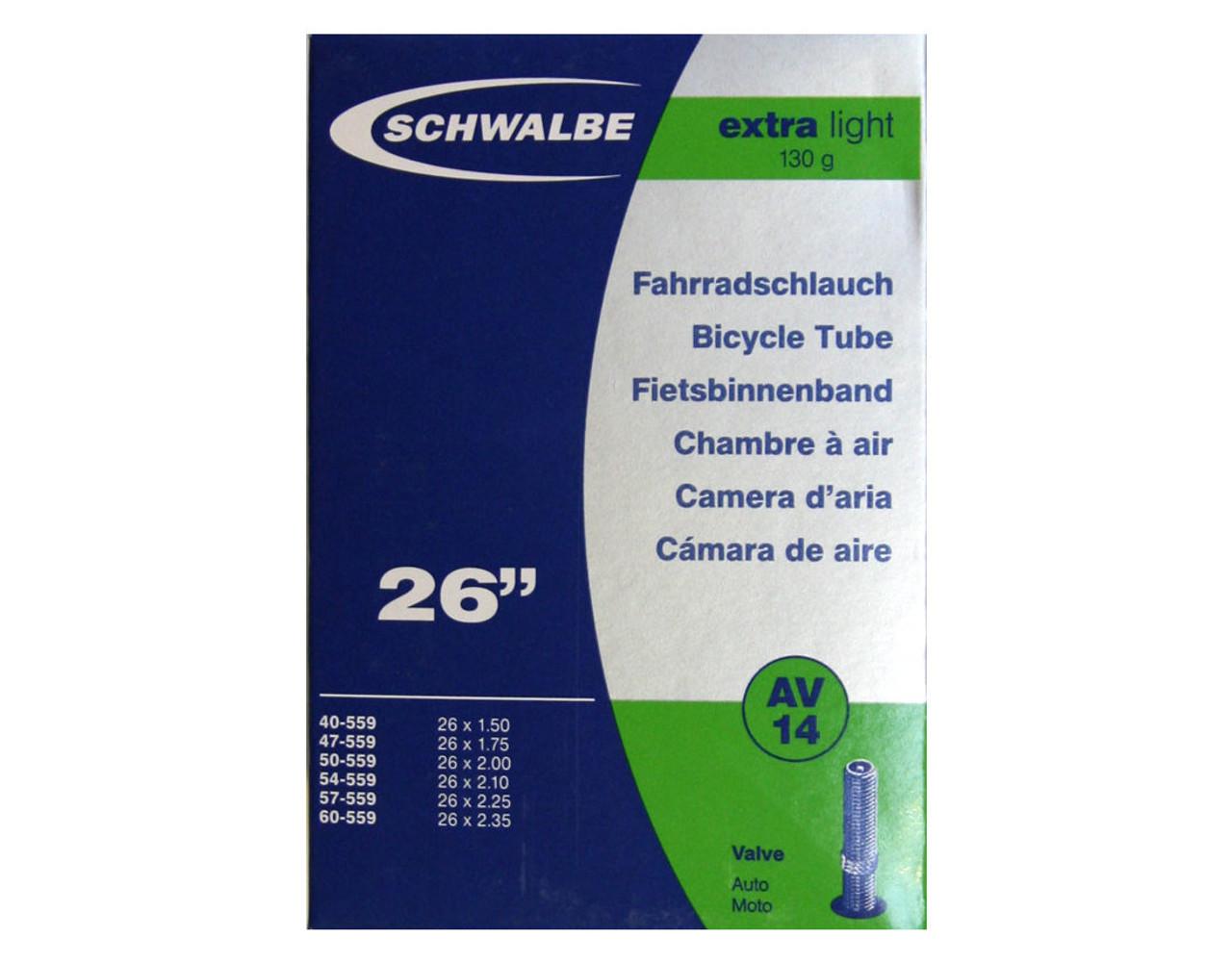 Schwalbe AV14 Extralight Inner Tube - 26 x 1.50/2.35 - 40mm Schrader Valve