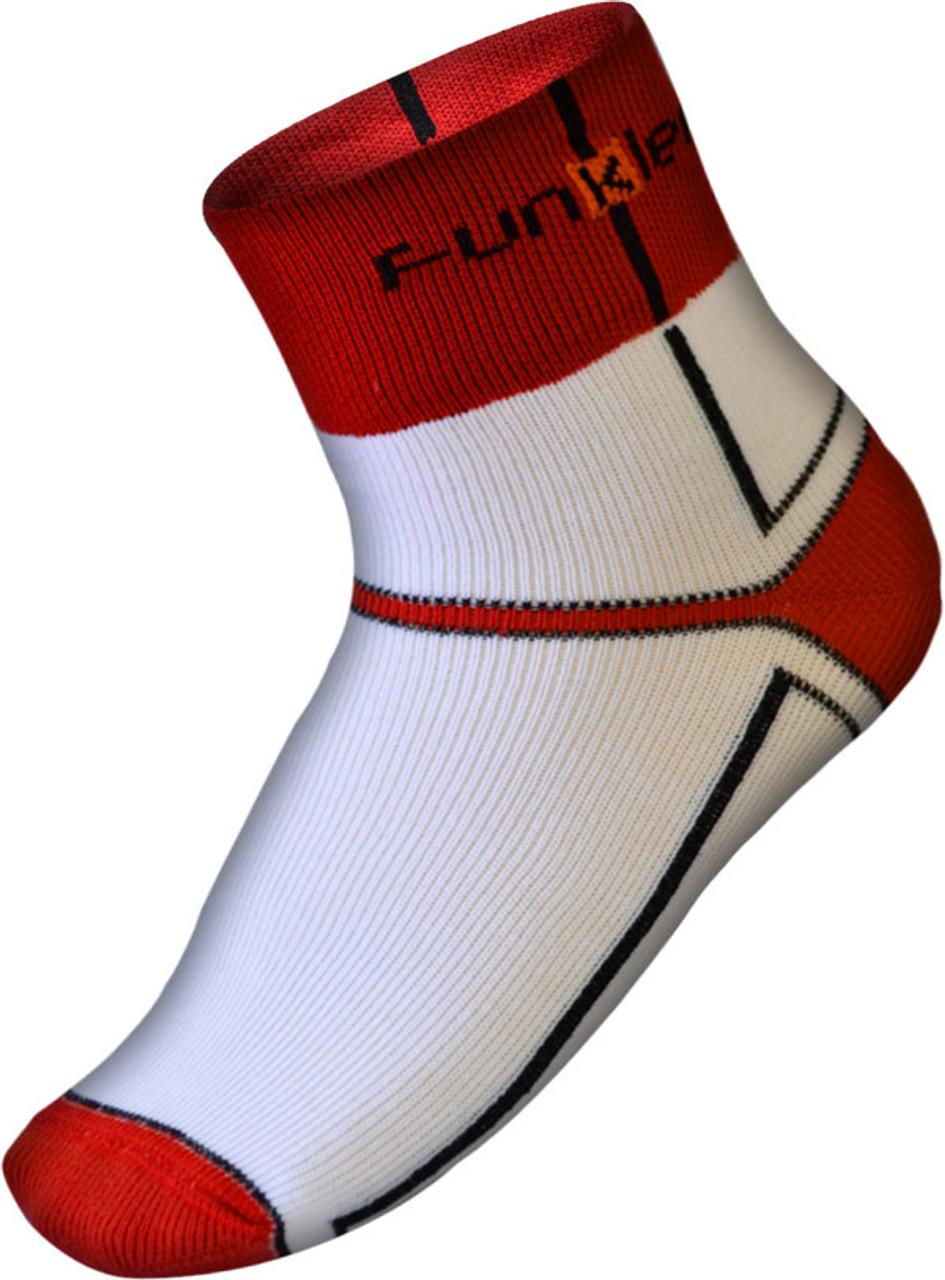 Funkier Lorca Winter Thermo-lite Socks | White/Red | SK-44