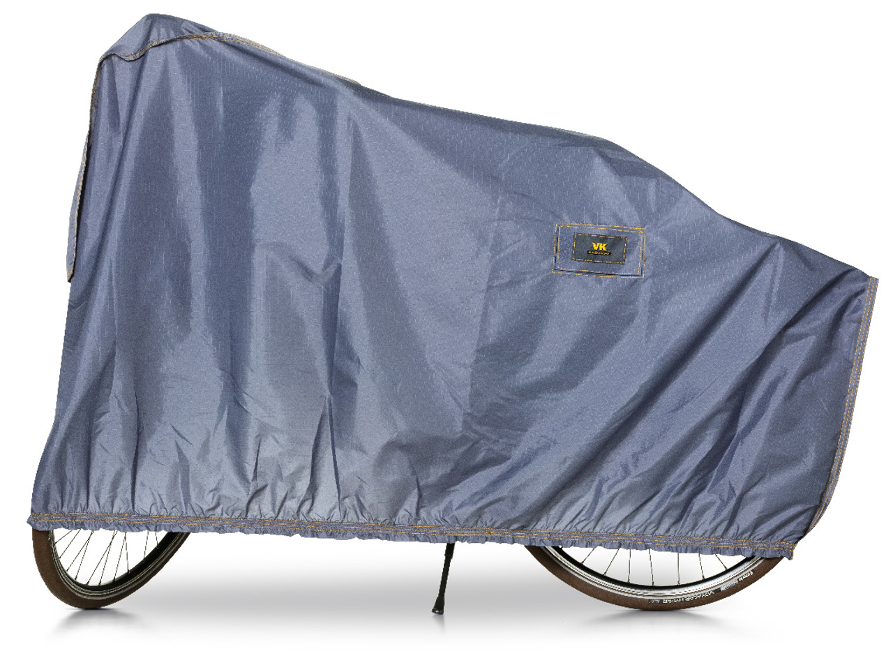 VK E-Bike Showerproof Single Bicycle Cover with Ventilation | Blue/Grey
