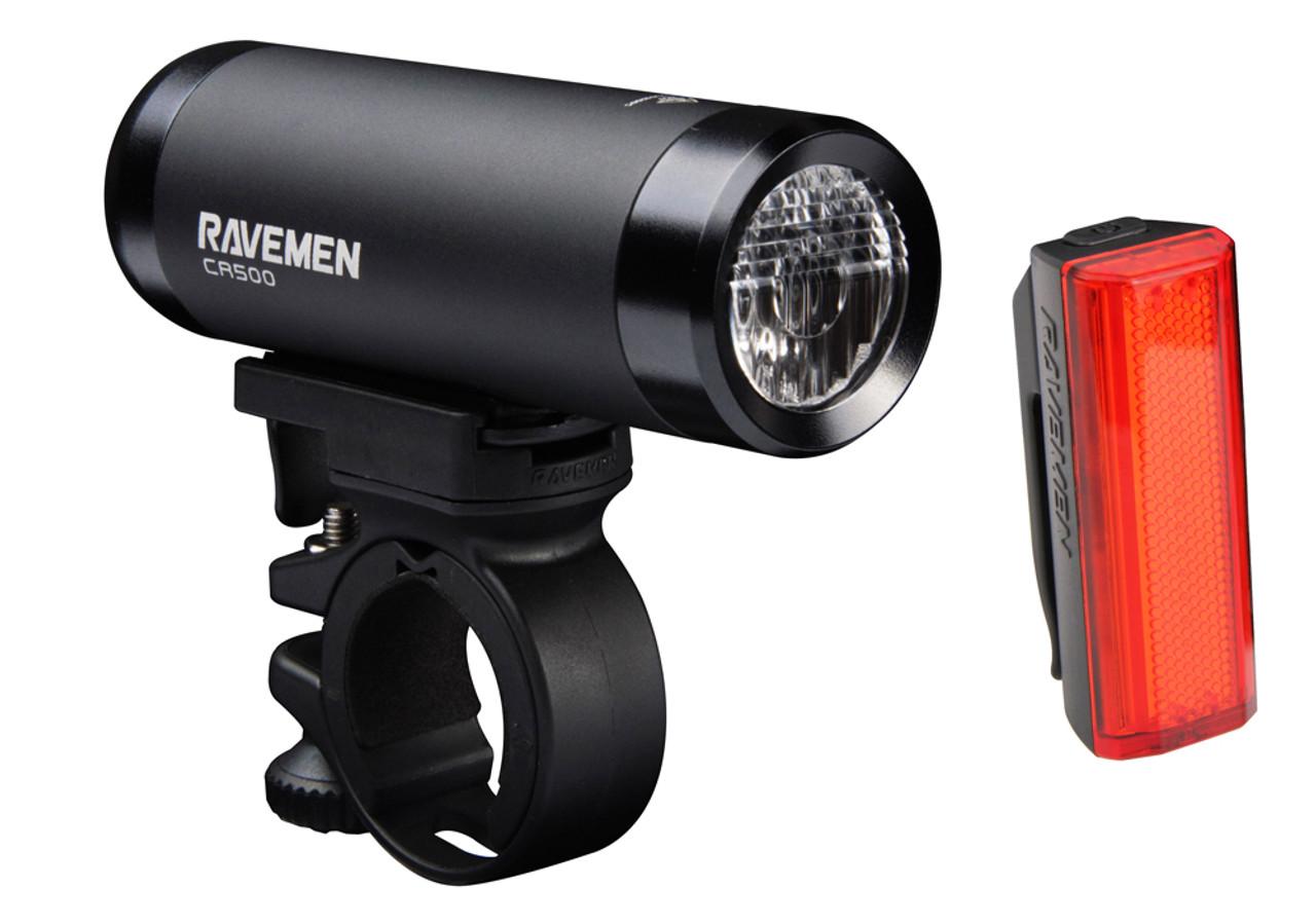 Ravemen CR500 / TR20 USB Rechargeable Lightset | 500 (Front) / 20 (Rear) Lumens