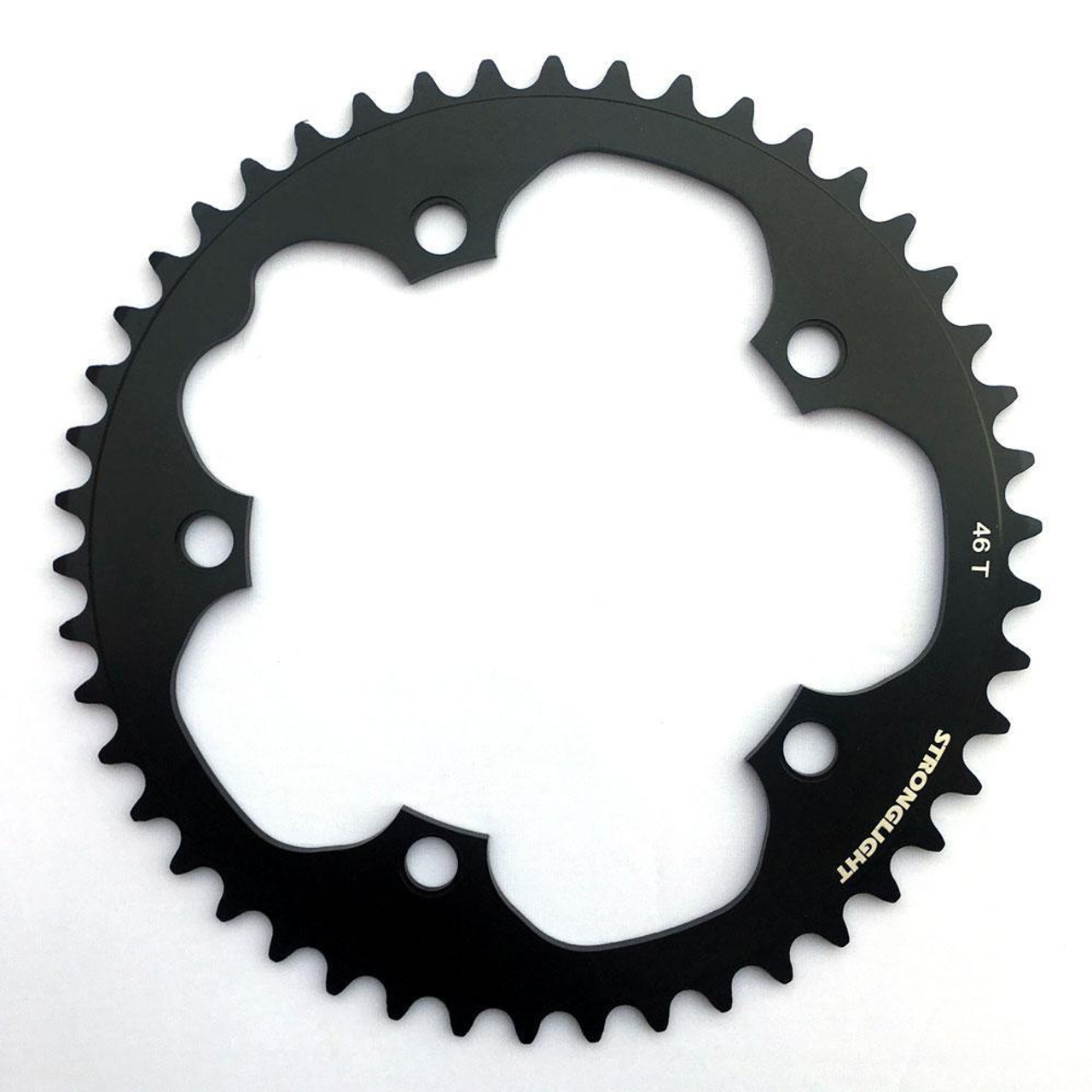 Stronglight Dural 5083 9/10 Speed Chainring | 130mm BCD | Black | All Sizes