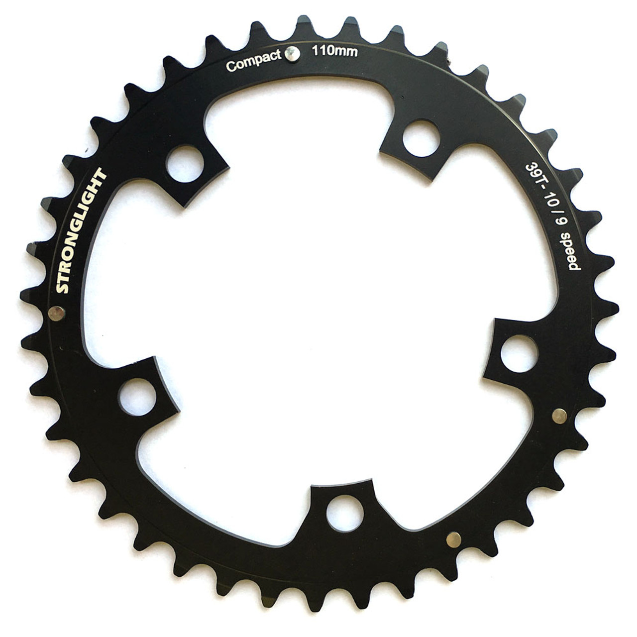 Stronglight Dural 5083 9/10 Speed Chainring | 110mm BCD | Black | All Sizes