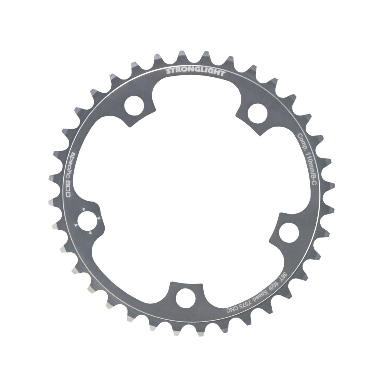 Stronglight Dural 5083 9//10 Speed Chainring 110mm BCD Black All Sizes