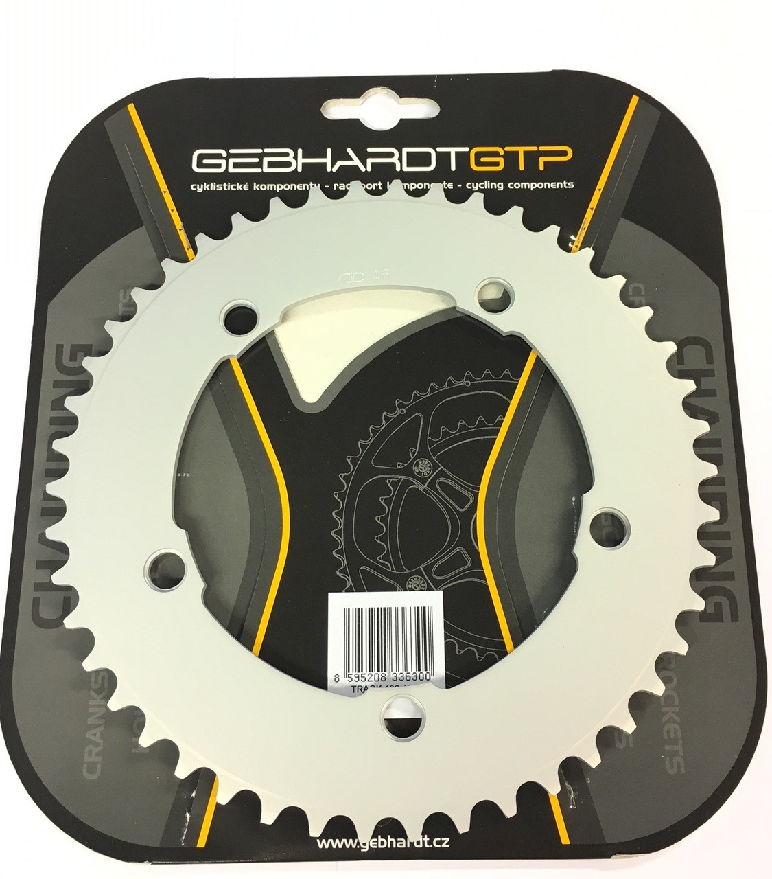 "Gebhardt 1/8"" Track Chainring Silver 130mm BCD"