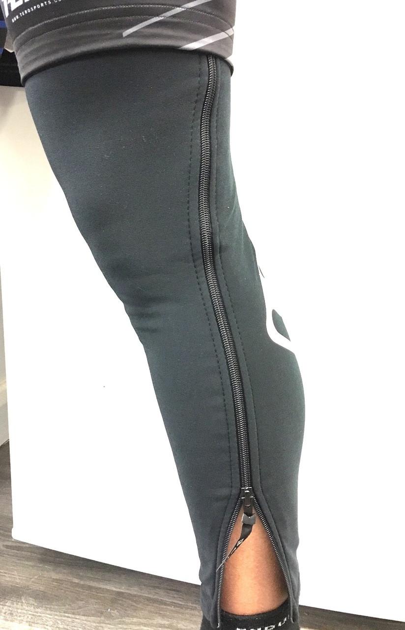 ETC Warm Up Full Zip Leg Warmers Black All Sizes