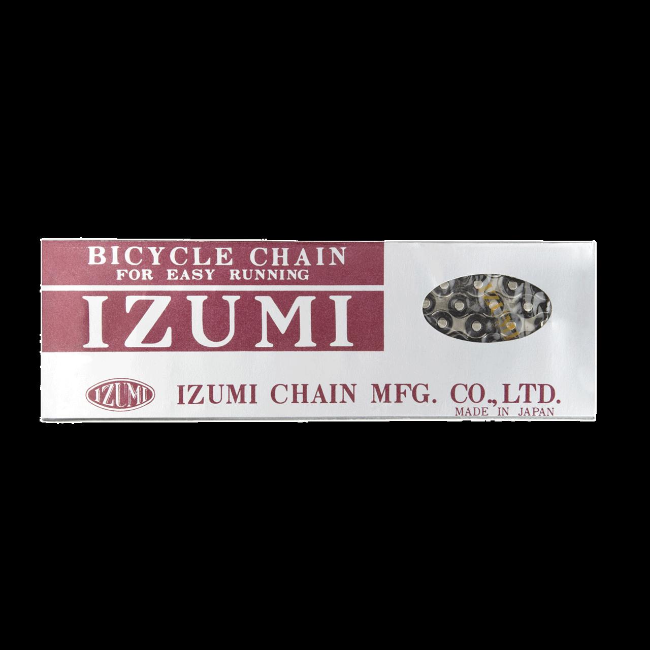 Izumi Standard Chain 1/2 X 116 Links In Silver/Black