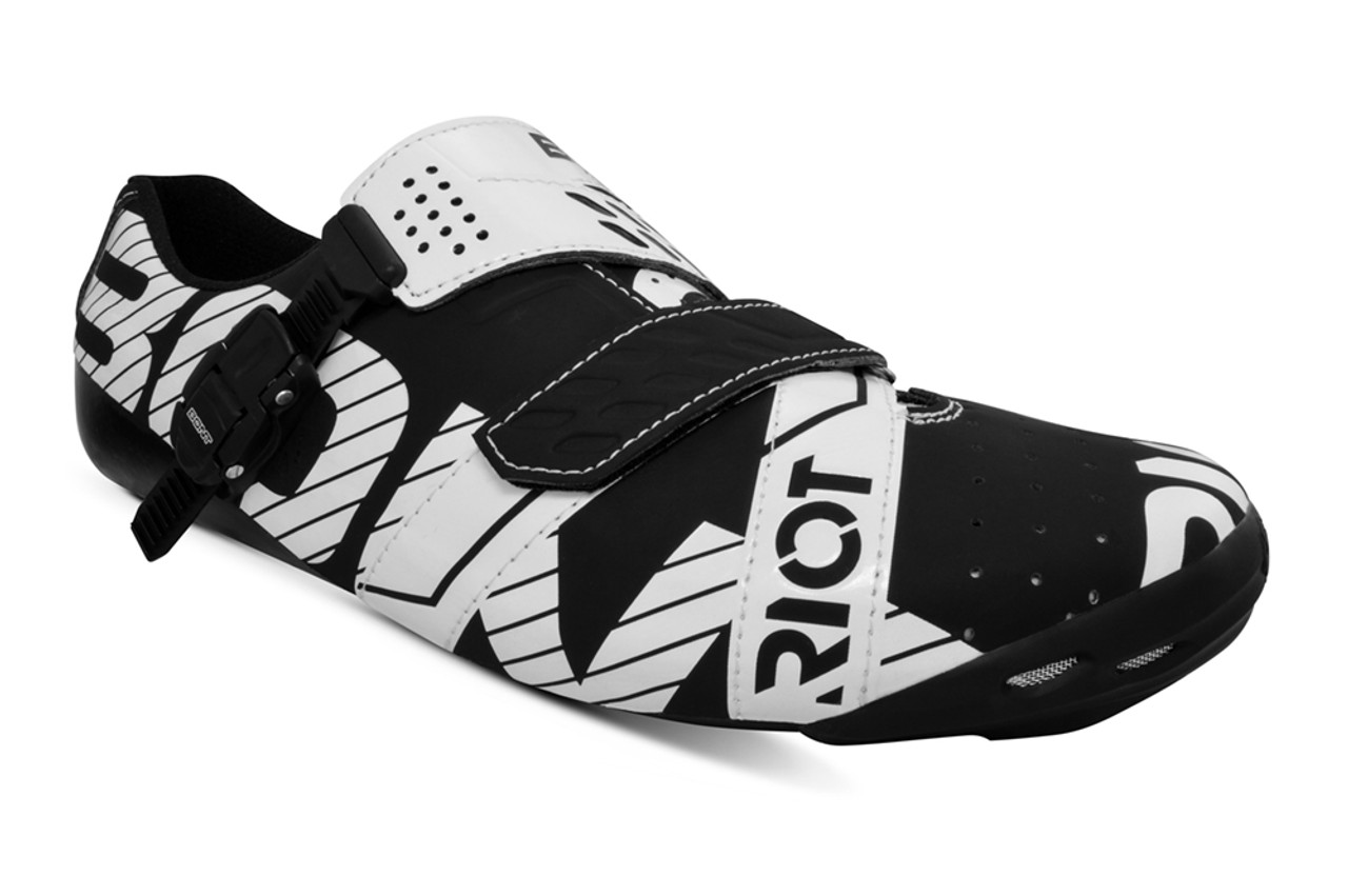 Bont Riot Buckle Shoe  Black/White Fully Mouldable All Sizes