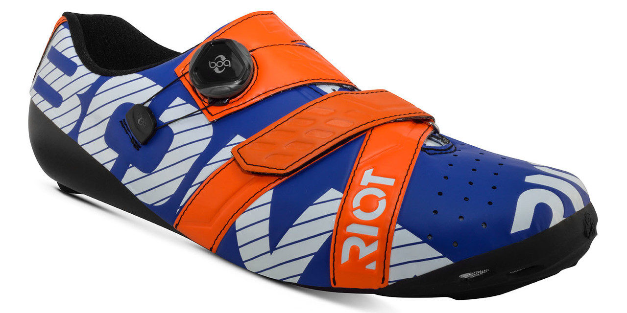 Bont Riot+ Cycling Shoe Midnight/Mega Crimson Fully Mouldable All Sizes