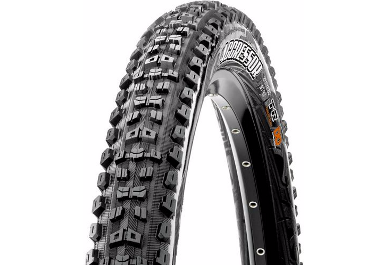 Maxxis Aggressor 60 TPI Dual Compound ExO/TR Folding Tyre All Sizes
