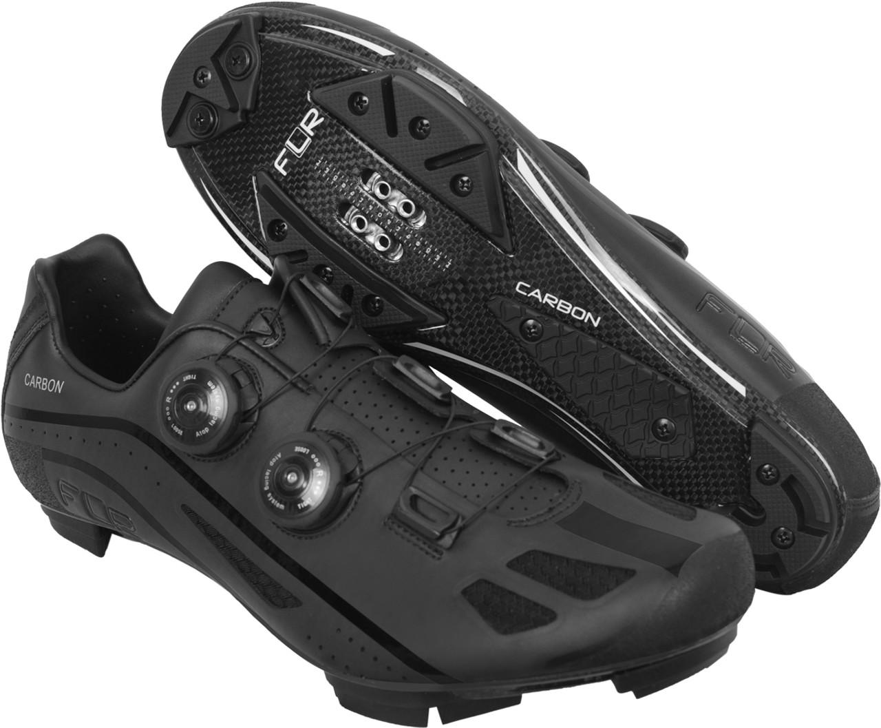 FLR F-95X Strawweight MTB Race Full Carbon Sole Shoe in Matt BlackAll Sizes