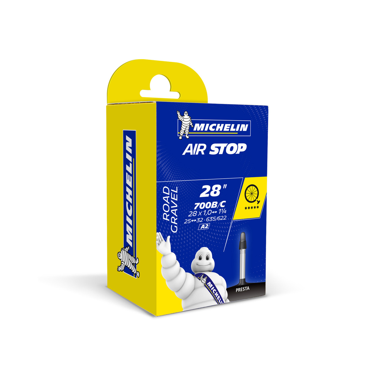 Michelin Airstop Road Inner Tube 700c x 25-32mm 40mm Presta Valve
