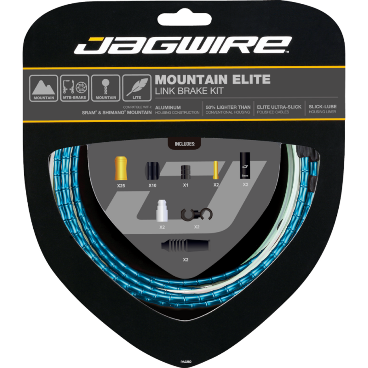 Jagwire Mountain Elite Link Brake Cable Kit in Blue from Sprockets