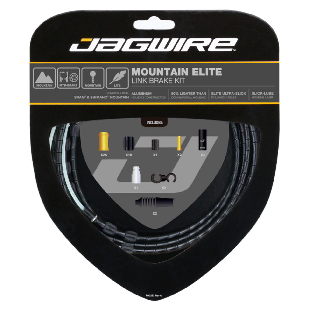 Jagwire Mountain Elite Link Brake Cable Kit in Colour Limited Black from Sprockets
