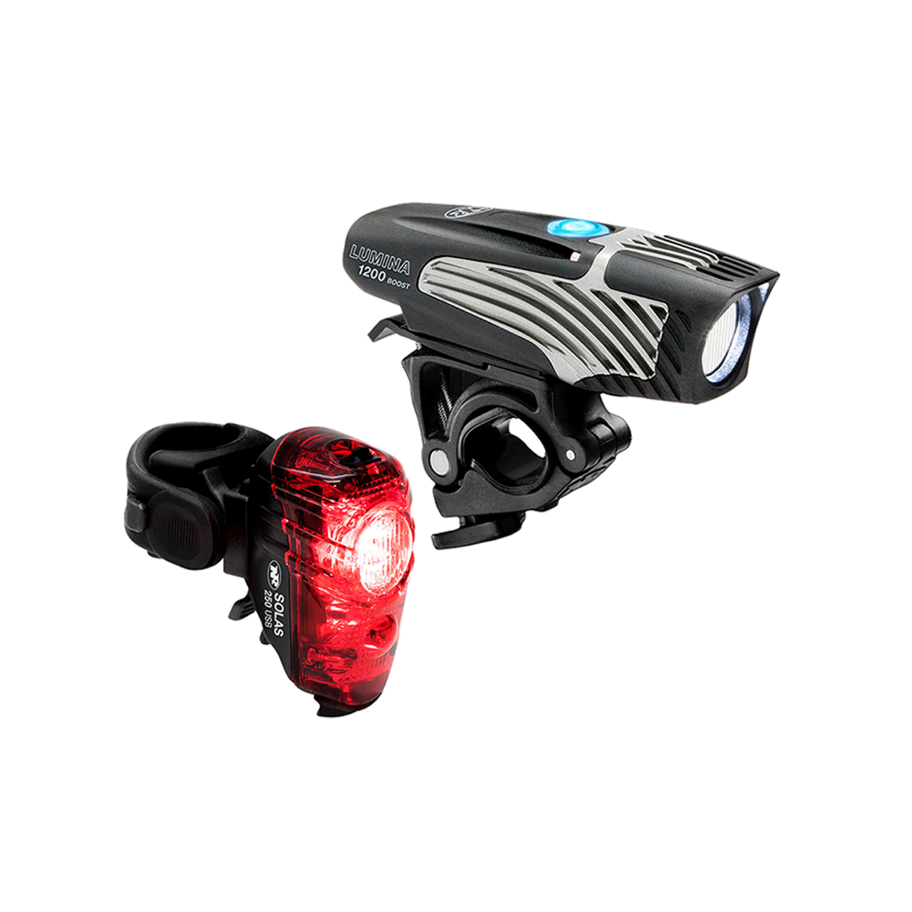 NiteRider Lumina 1200 Boost / Solas 250 Light Set USB Rechargeable