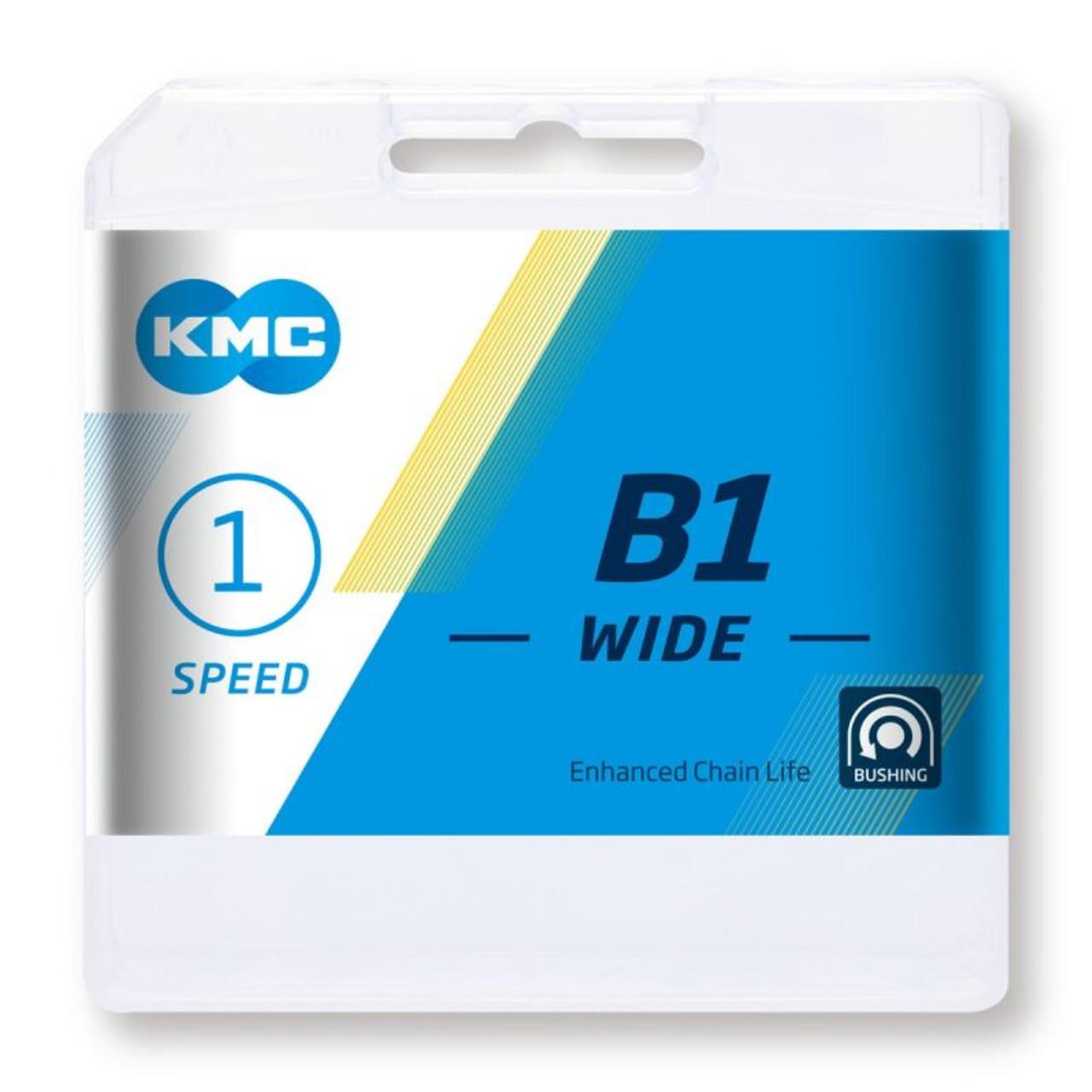 KMC B1 Wide Black 1 Speed 112L Chain