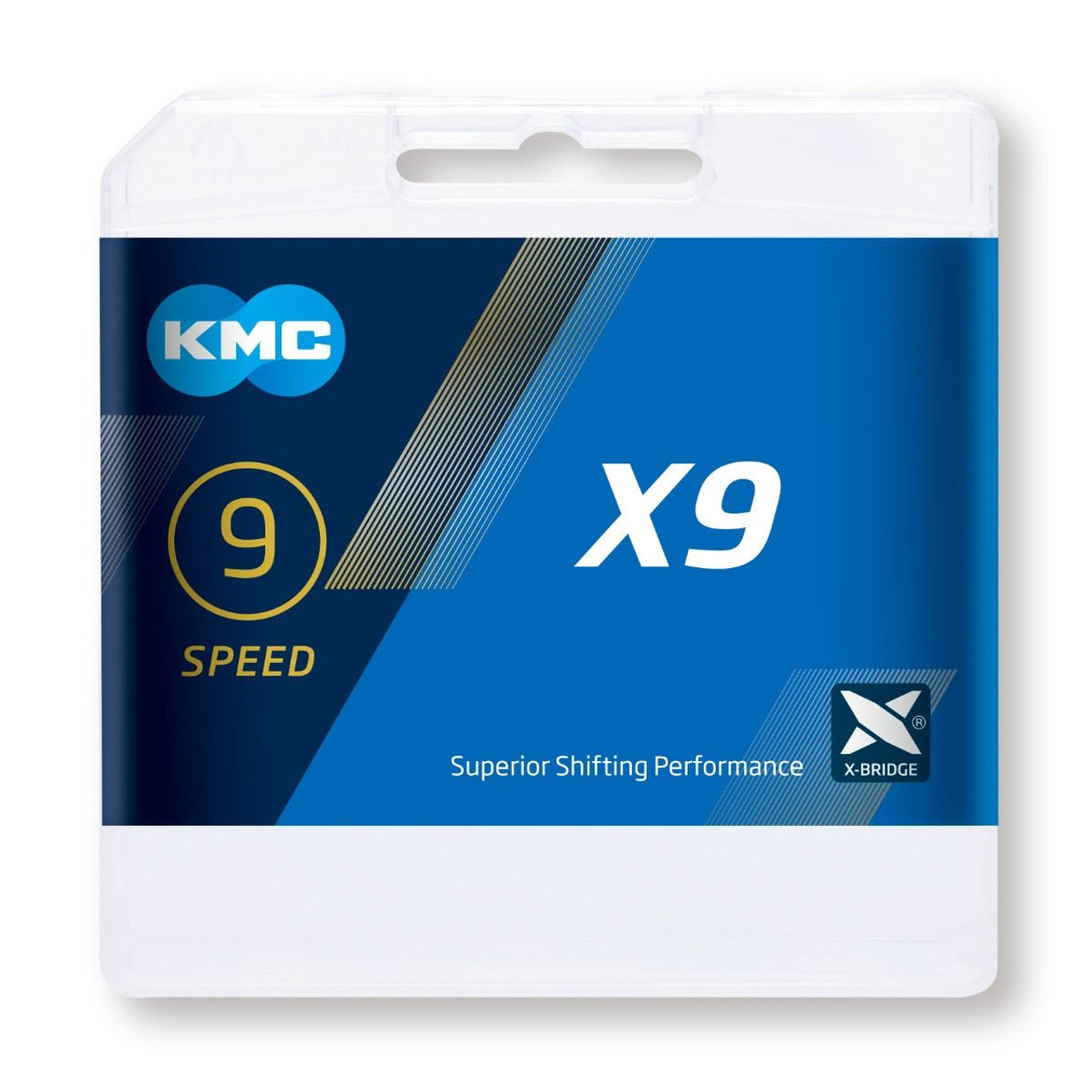 KMC X9 9 Speed Chain 114 Link Silver