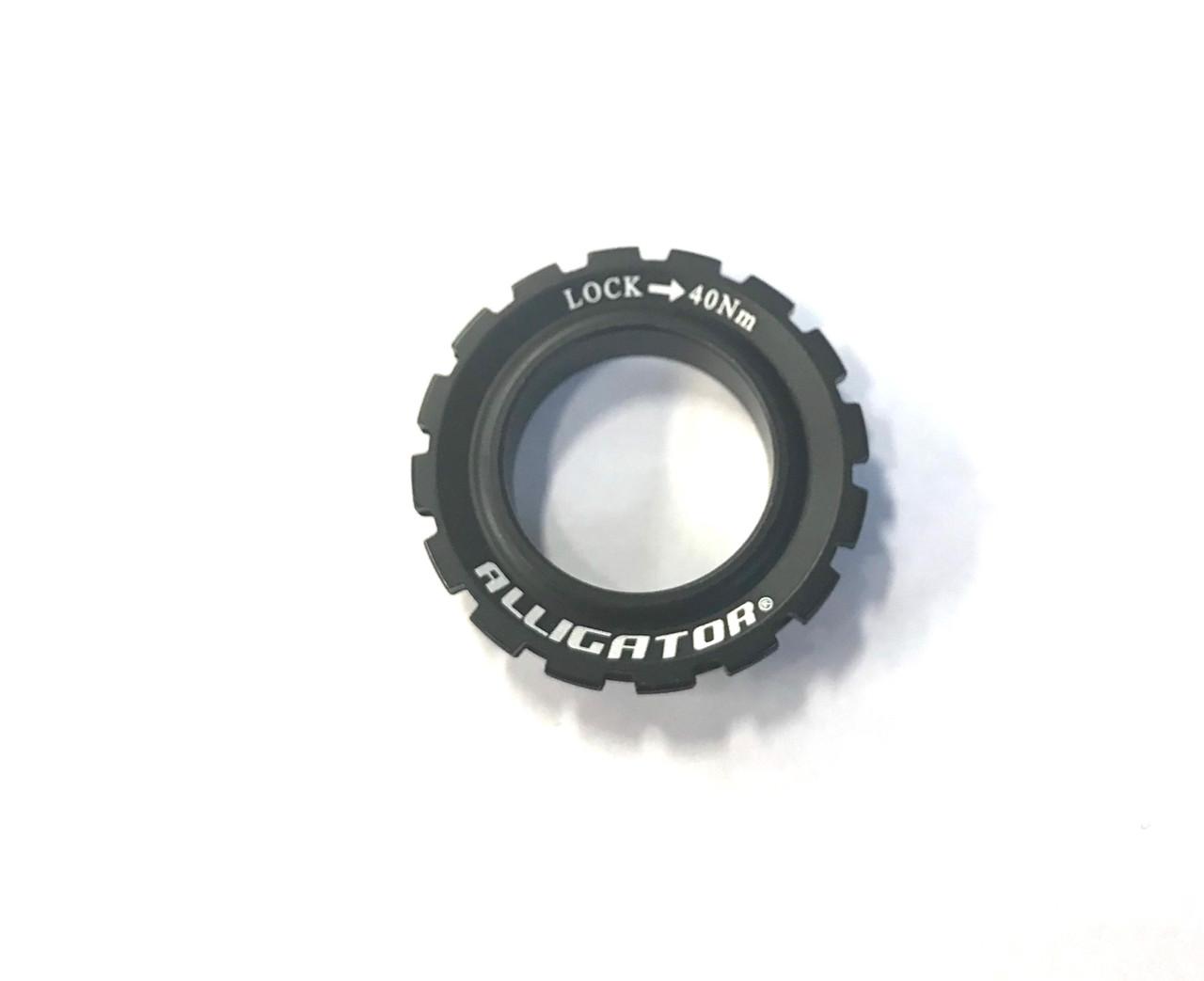 Alligator CLA-02 Disc Alloy Lockring For 12,15 & 20mm Thru-Axle Hub In Black