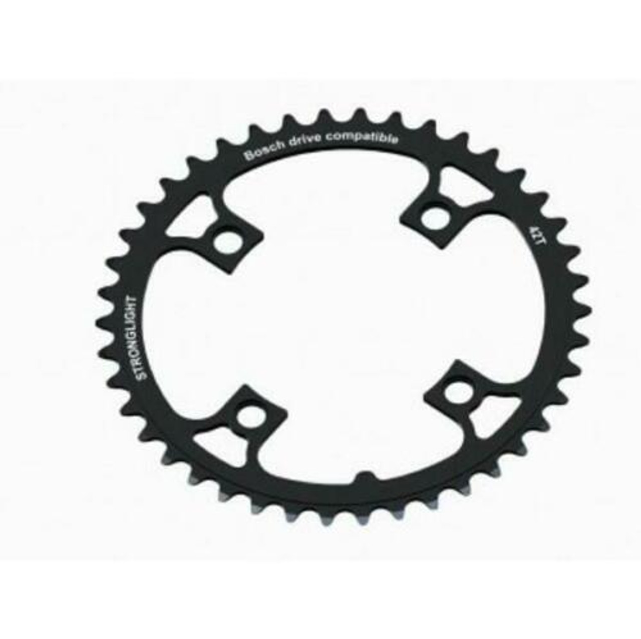 Stronglight 7075-T6 E Bike 104mm BCD Bosch Compatible Chainring In Black