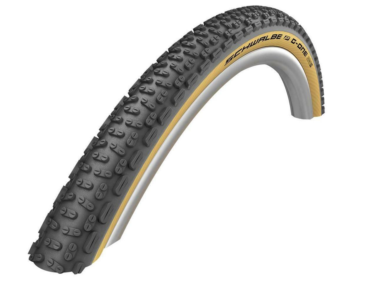 Schwalbe G-One Ultrabite TLE Addix Performance RaceGuard Gravel Tyre in Classic Skin