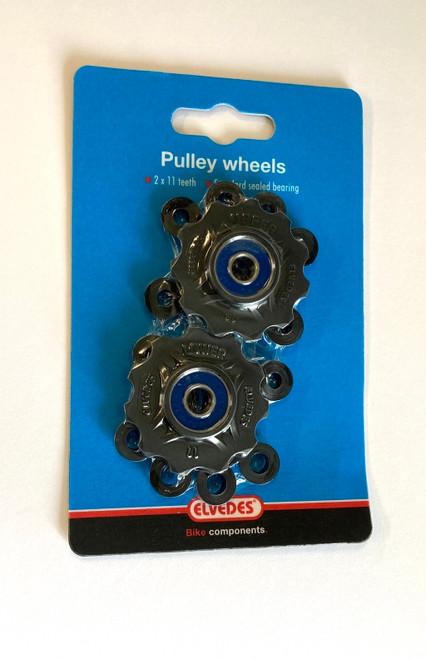 Elvedes 11T Jockey Wheels | 8/9/10/11 Spd Shimano | 8/9/10 Spd Campagnolo |