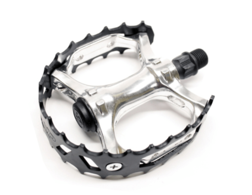 """VP Components Bear Trap VP-747F Old School BMX 9/16"""" Pedals In Black/Silver"""