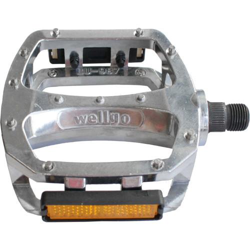 """Wellgo LU987U Alu CR-MO 1/2"""" Pedals In Silver"""