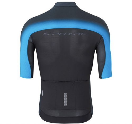 Shimano Men's S-PHYRE Flash Short Sleeve Jersey In Black/Blue All Sizes RRP £169.99
