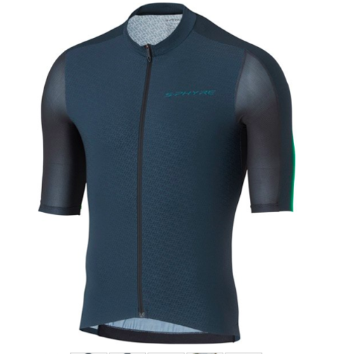 Shimano Men's S-PHYRE Flash Short Sleeve Jersey In Black/Green  All Sizes RRP £169.99