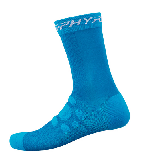 Shimano S-PHYRE Tall Socks In Blue All Sizes