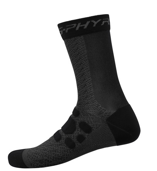Shimano S-PHYRE Tall Socks In Black All Sizes