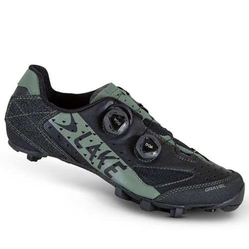Lake GX238 Gravel Fullgrain Water Resistant Cycling Shoe Standard Fit In Black / Beetle - All Sizes RRP £265