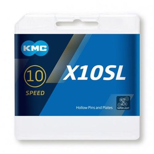 KMC X10SL Silver Super Light 10 Speed Chain