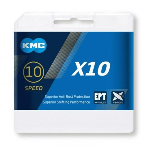 KMC X10 Silver EPT Eco Proteq Anti Rust 10 Speed Chain